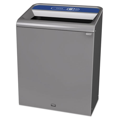 Configure Indoor Recycling Waste Receptacle, 45 gal, Gray, Paper