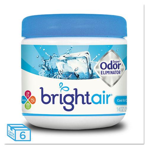 BRIGHT Air® Super Odor Eliminator, Cool and Clean, Blue, 14oz, 6/Carton