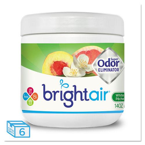 Super Odor Eliminator, White Peach and Citrus, 14 oz, 6/Carton | by Plexsupply