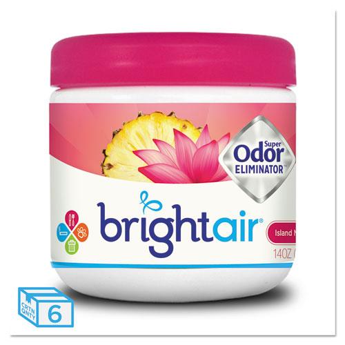 BRIGHT Air® Super Odor Eliminator, Island Nectar and Pineapple, Pink, 14oz, 6/Carton