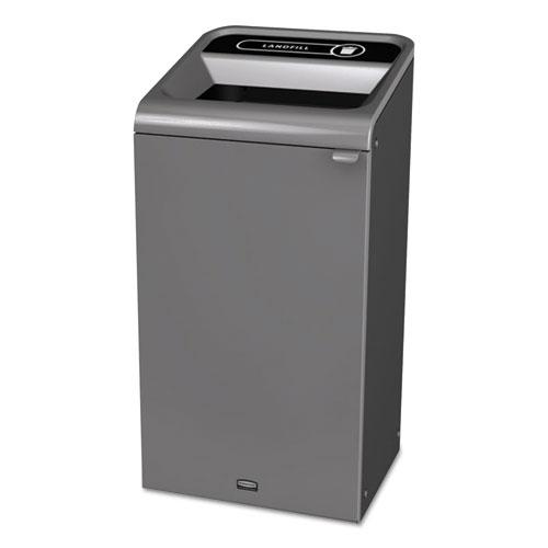 Configure Indoor Recycling Waste Receptacle, 23 gal, Gray, Landfill
