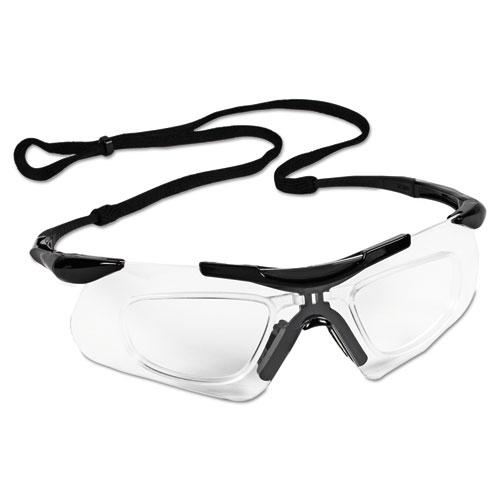 Jackson Safety* V60 Nemesis Rx Reader Safety Glasses,  Black Frame, Clear Anti-Fog Lens,12/Ctn