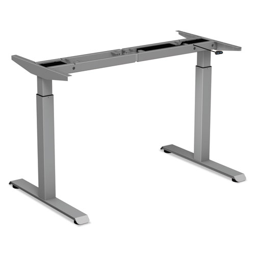 2-Stage Electric Adjustable Table Base, 27.5 to 47.2 High, Gray