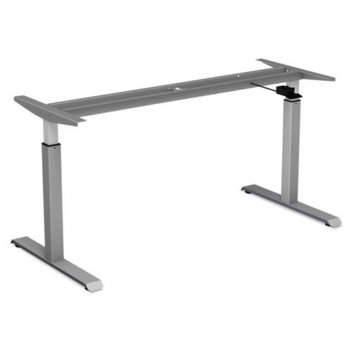 AdaptivErgo Pneumatic Height-Adjustable Table Base, 26.18 to 39.57, Gray