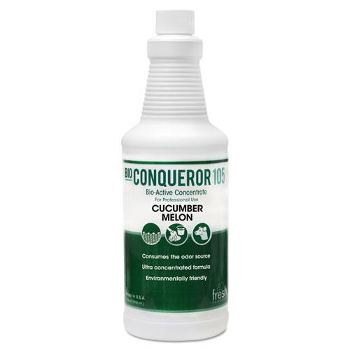 Bio Conqueror 105 Enzymatic Odor Counteractant Concentrate, Cucumber Melon, 1 qt, 12/Carton