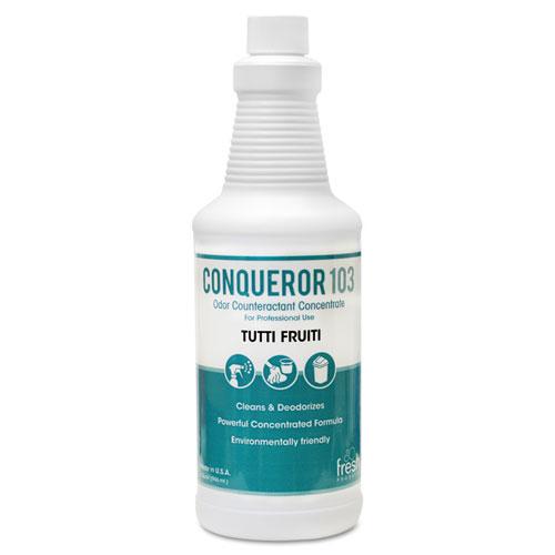 Conqueror 103 Odor Counteractant Concentrate, Tutti-Frutti, 32 oz Bottle, 12/Carton