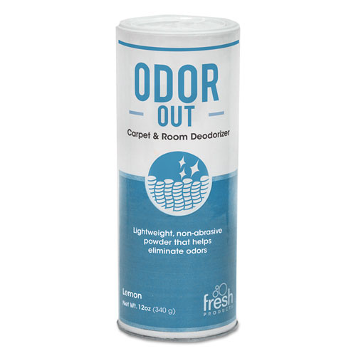Fresh Products Odor Out Rug Room Deodorant Lemon 12 Oz Shaker Can Box