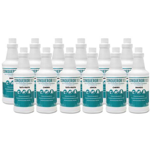 Fresh Products Conqueror 103 Odor Counteractant Concentrate, Cherry, 32 oz Bottle, 12/Carton
