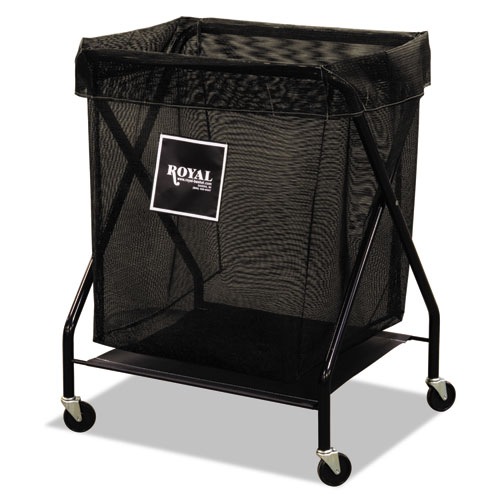 6 Bushel X-Frame Cart with Mesh Bag, 20 x 26 x 36, 150 lbs. Capacity, Black