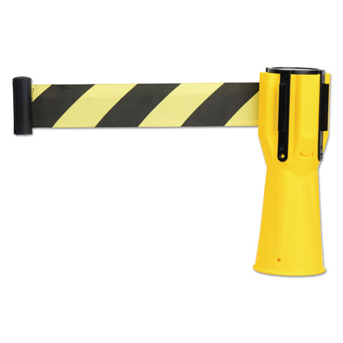 "Tatco Safety Cone Topper Belt, 3 1/2"" x 9 ft, Yellow/Black, Plastic/Nylon"