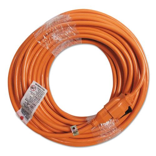 Innovera® Indoor Extension Cord, Locking Plug, 100ft, Orange