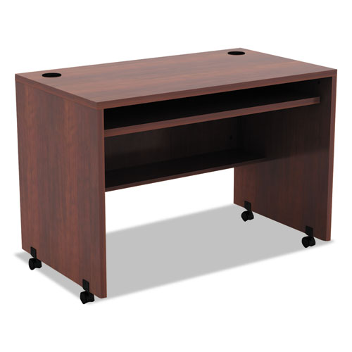Alera Valencia Mobile Workstation Desk, 41.38w x 23.63d x 30h, Medium Cherry