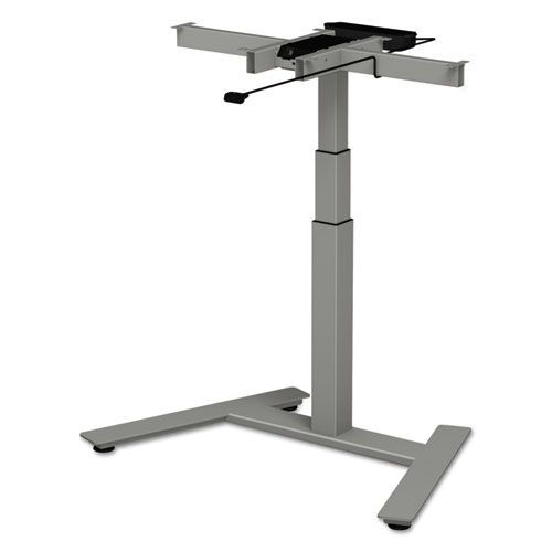 AdaptivErgo 1-Column Electric Adjustable Table Base, 24.75 to 43.25H, Gray