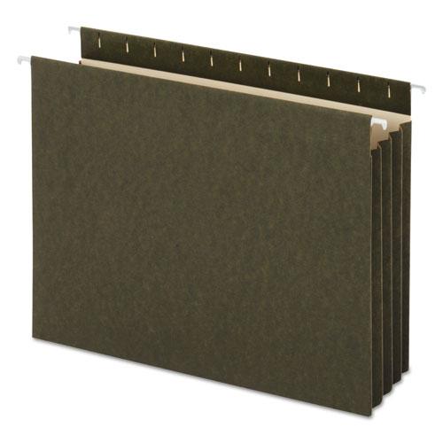 Hanging Box Bottom File Pockets, Letter Size, Standard Green, 10/Box | by Plexsupply