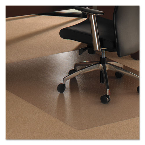 Floortex® Cleartex Ultimat XXL Polycarb. Square General Office Mat F/Carpets,60x60,Clear
