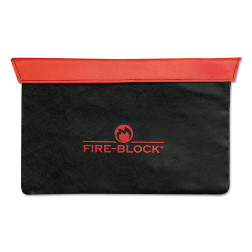 Fire-Block Document Portfolio, 15 1/2 x 10 x 1/2, Red/Black