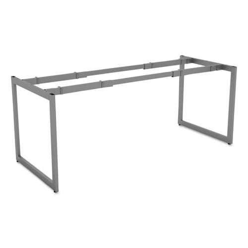 Alera Open Office Desk Series Adjustable O-Leg Desk Base, 30 Deep, Silver