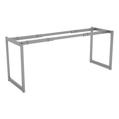 Alera Open Office Desk Series Adjustable O-Leg Desk Base, 24 Deep, Silver
