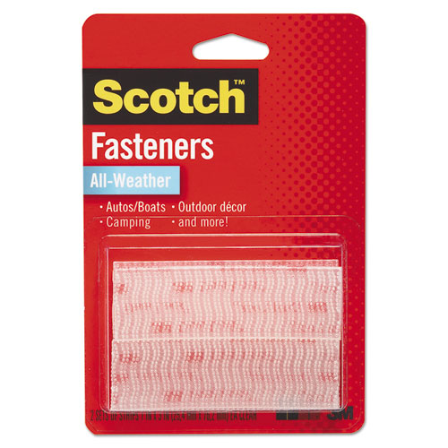 Extreme Fasteners, 1 x 3, Clear, 2/Pack