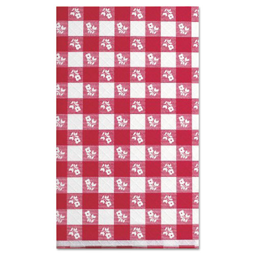 Paper Table Cover, 40 x 300ft, Red Gingham