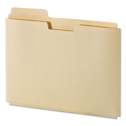 "File Folder Pocket, 0.75"" Expansion, Letter Size, Manila, 10/Pack 