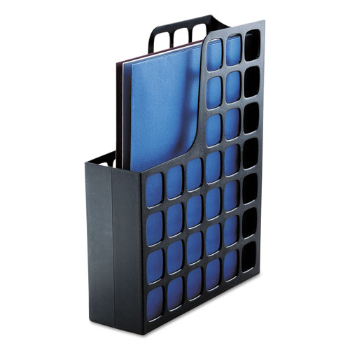 Plastic Magazine File, 3 x 9 1/2 x 12 1/2, Black | by Plexsupply