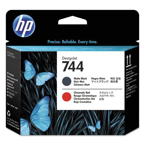 HP 744, (F9J88A) Chromatic Red/Matte Black DesignJet Printhead