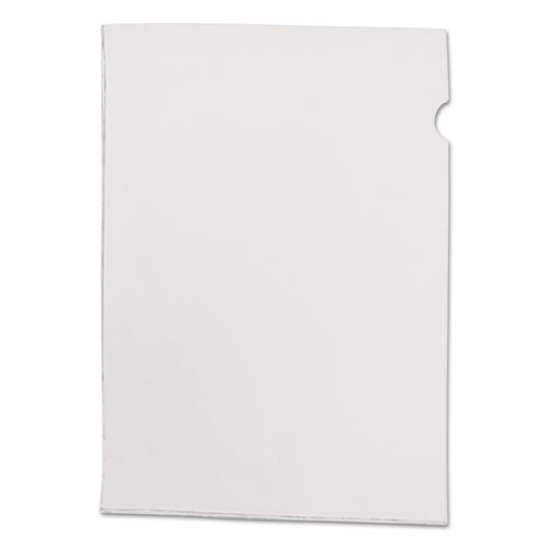 See-In File Jackets, Letter Size, Clear, 50/Box | by Plexsupply