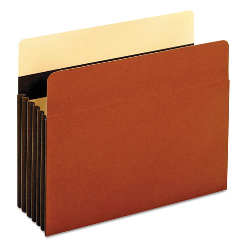 """HEAVY-DUTY FILE POCKETS, 5.25"""" EXPANSION, LETTER SIZE, REDROPE, 10/BOX"""