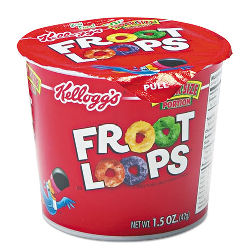 Froot Loops Breakfast Cereal, Single-Serve 1.5oz Cup, 6/Box 01246