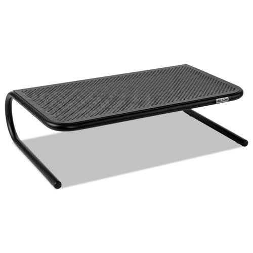 Metal Art Monitor Stand, 19 x 12.5 x 5.25, Black, Supports 30 lbs