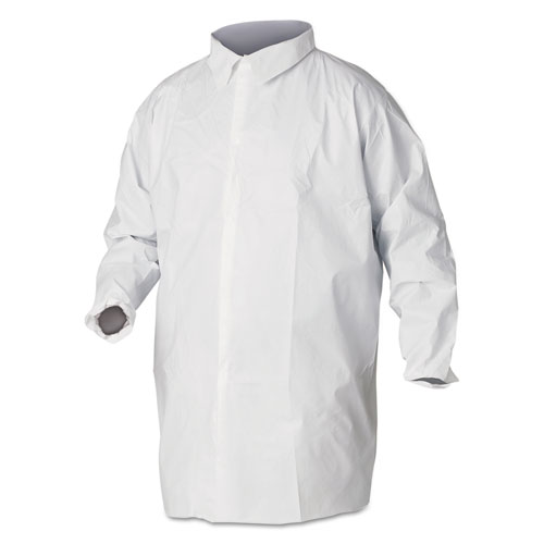 KleenGuard* A40 Liquid and Particle Protection Lab Coats, 2X-Large, White, 30/Carton