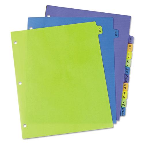 Preprinted Plastic Tab Dividers, 12-Tab, Letter