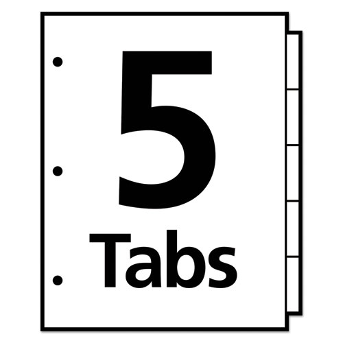 Insertable Big Tab Dividers 5 Tab Letter Office Source 360