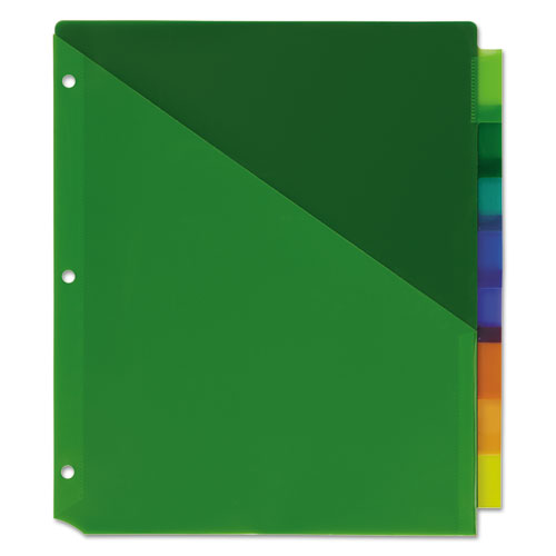 Ave11907 avery insertable big tab plastic dividers w for Avery big tab inserts for dividers 8 tab template