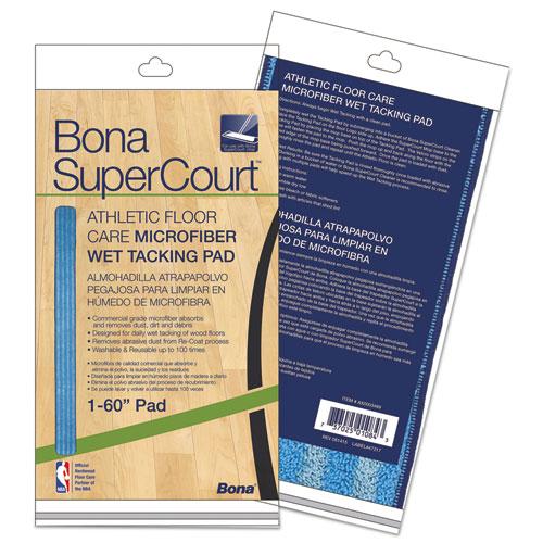 SuperCourt Athletic Floor Care Microfiber Wet Tacking Pad, 60, Light/Dark Blue
