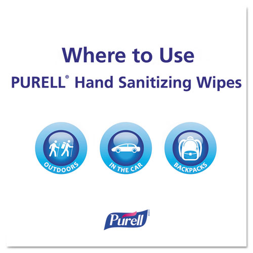 """Premoistened Hand Sanitizing Wipes, 5.78"""" x 7"""", 100/Canister, 12 Canisters/CT"""