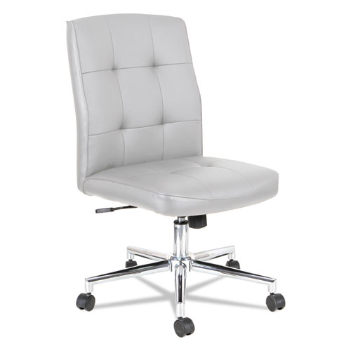 Slimline Swivel/Tilt Task Chair, White with Chrome Base NT4906