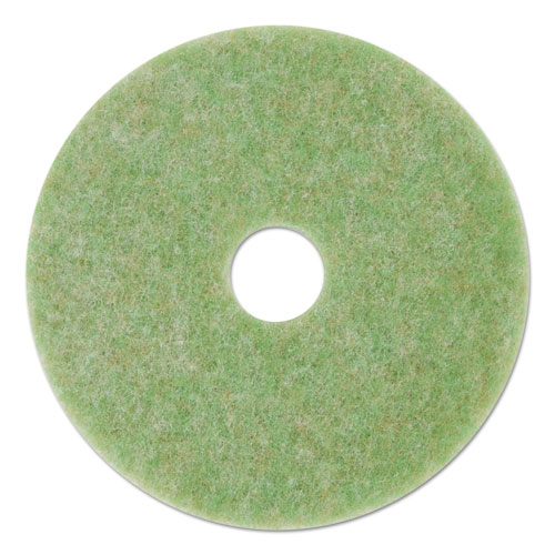 "3M™ Low-Speed TopLine Autoscrubber Floor Pads 5000, 20"" Diameter, Green/Amber, 5/Carton"