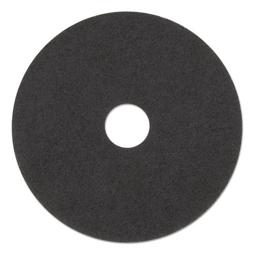 "3M™ Low-Speed Stripper Floor Pad 7200, 17"" Diameter, Black, 5/Carton"