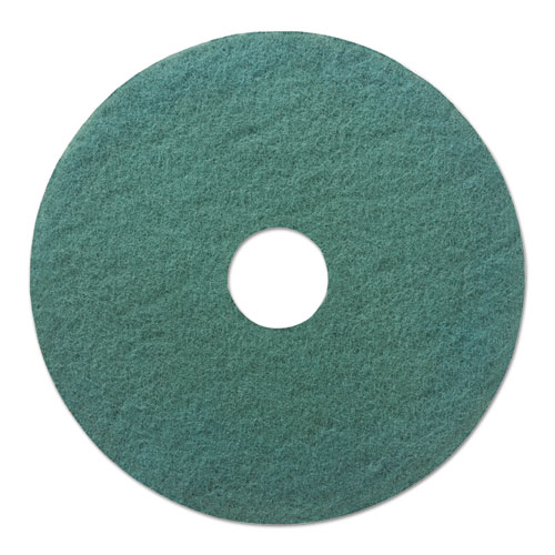 "Boardwalk® Heavy-Duty Scrubbing Floor Pads, 20"" Diameter, Green, 5/Carton"