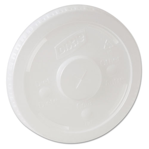 Dixie® Plastic Lids for Pathways Cold Drink Cups, 12 & 16oz, 1200/Carton