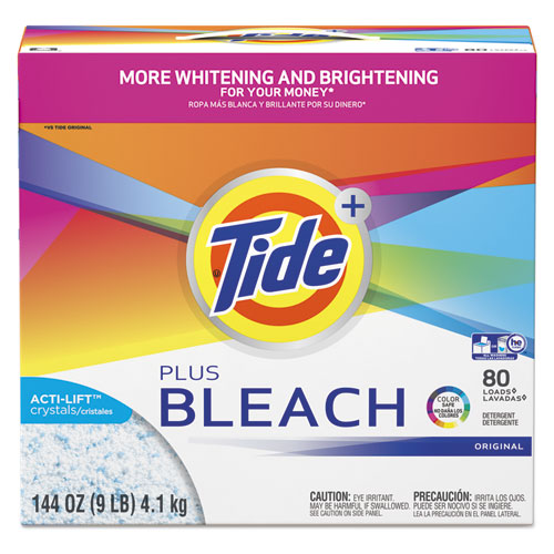 Tide® Laundry Detergent with Bleach, Tide Original Scent, Powder, 144 oz Box