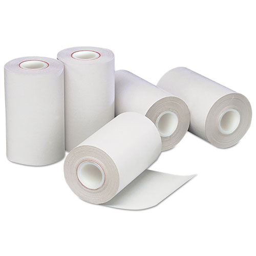 Direct Thermal Printing Paper Rolls, 0.5 Core, 2.25 x 55 ft, White, 50/Carton