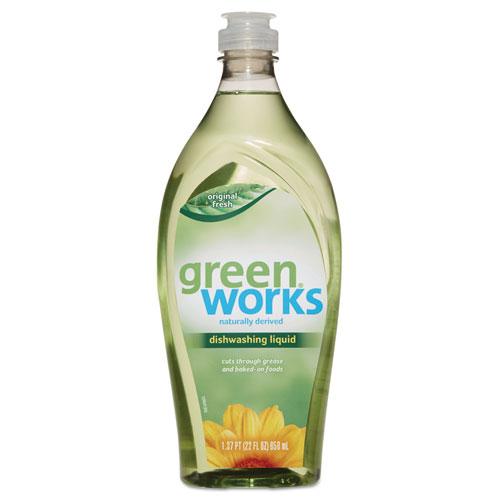 Green Works® Dishwashing Liquid, Original Fresh, 22 oz Squeeze Bottle, 6/Carton