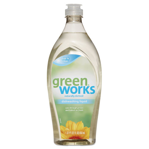 Green Works® Dishwashing Liquid, Free & Clear, 22 oz Squeeze Bottle