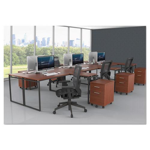 Linea Italia® Seven Series Rectangle Desk, 47 1/4 x 23 5/8 x 29 1/2, Ash