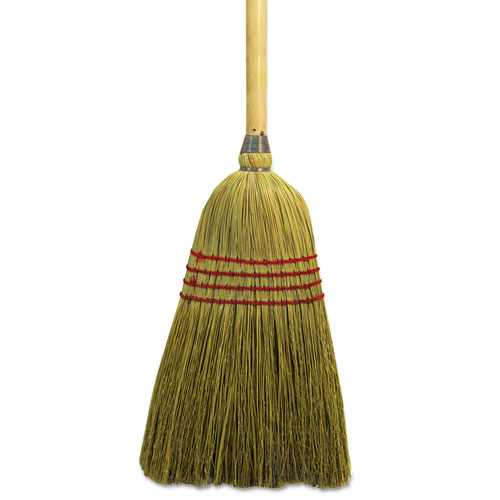 "Maid Broom, Mixed Fiber Bristles, 55"" Long, Natural 