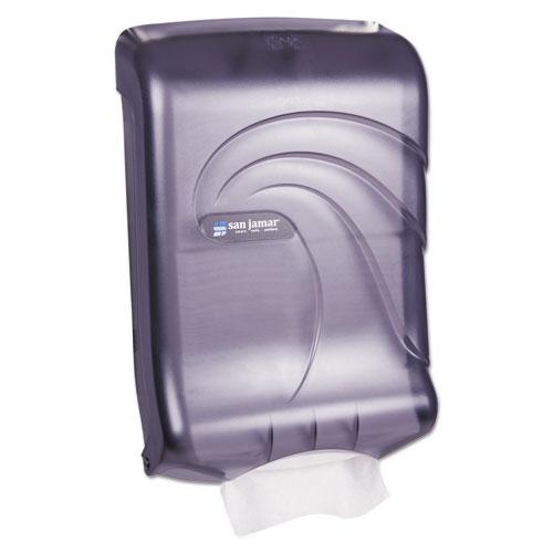 Ultrafold Multifold/C-Fold Towel Dispenser, Oceans, Black, 11 3/4 x 6 1/4 x 18 | by Plexsupply