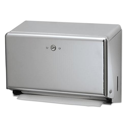 Mini C-Fold/Multifold Towel Dispenser, Chrome, 11 1/8 x 3 7/8 x 7 7/8 | by Plexsupply